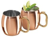 Oggi 20oz Moscow Mule Mug - Copper - Set of 2
