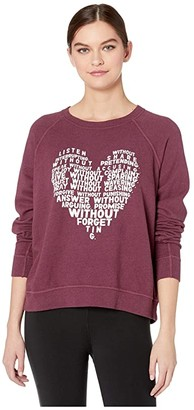 good hYOUman Smith What Is Love Pullover (Beet) Women's Clothing