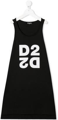 DSQUARED2 TEEN D2 logo-print dress