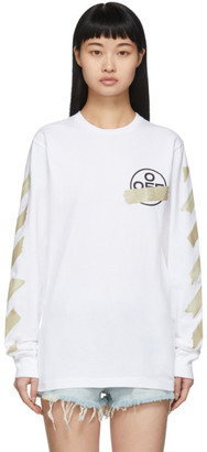 Off-White White Tape Arrows Long Sleeve T-Shirt