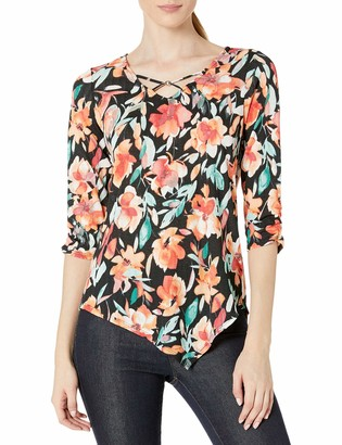 Amy Byer Women's Asymmetrical Hem Top
