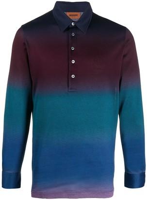 Missoni Geometric Knit Polo Shirt