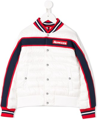 Moncler Enfant Long Sleeved Puffer Bomber Jacket