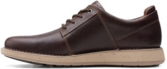 Clarks Un Larvik Leather Shoes - Burgundy