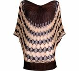 J. Furmani Women's Designer Collection Knitted Two-tone V-neck