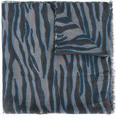 Furla zebra pattern scarf - women - Silk/Modal - One Size