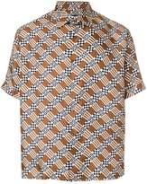 Fendi damier print shirt
