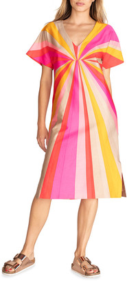 Trina Turk Honolulu Striped V-Neck Dress
