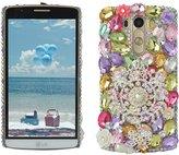 Spritech(TM) Bling Phone Case For,3D Handmade Crystal White Flower Accessary Design Cellphone Clear Cover