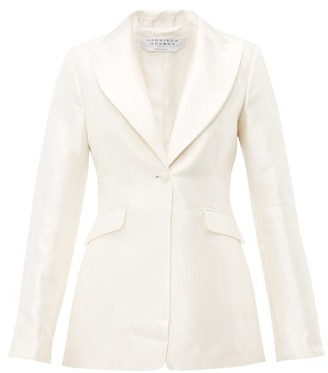 Gabriela Hearst Serge Single-breasted Silk-blend Satin Blazer - Ivory