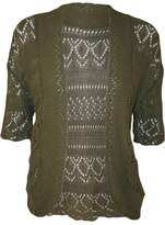 RM Fashions Womens Plus Size Crochet Knit Bolero Cardigan Shrug Top XXL