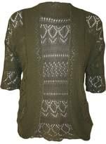 RM Fashions Womens Plus Size Crochet Knit Bolero Cardigan Shrug Top XXXL