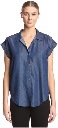 James & Erin Women's Back Pleat Top