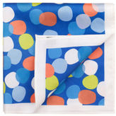 Jeff Banks NEW Abstract Spot Pocket Squares Blue
