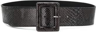 Orciani snakeskin-effect buckle belt