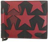 Valentino Garavani Black And Red Camoustars Leather Wallet