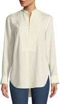 Rag & Bone Alfie Hook-Front Long-Sleeve Shirt