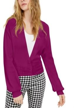 INC International Concepts I.n.c. Petite Ribbed Blouson Sleeve Cardigan, Created for Macy's