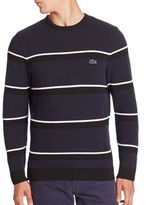 Lacoste Textured Striped Sweater