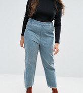 Asos Straight Leg Jeans In Tonal Deconstructed