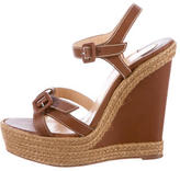 Christian Louboutin Espadrille Wedge Sandals