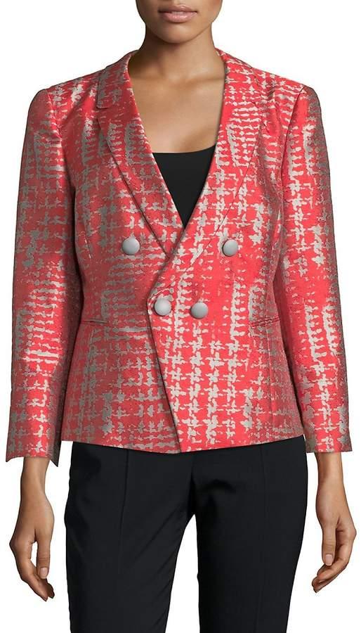 Armani Collezioni Women's Notch Lapel Jacquard Jacket