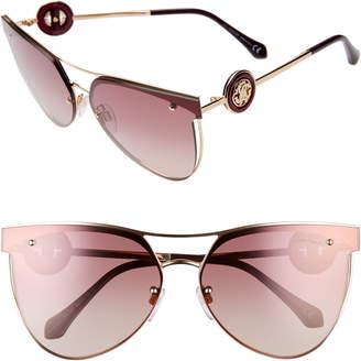 Roberto Cavalli 65mm Oversize Flat Front Cat Eye Sunglasses