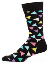 Happy Socks Men's Triangle Print Socks