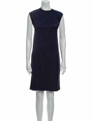 Celine Silk Knee-Length Dress w/ Tags Blue