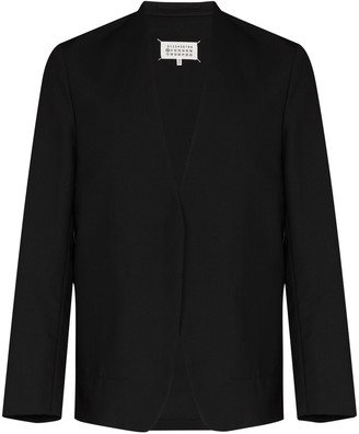 Maison Margiela Collarless Single-Breasted Blazer