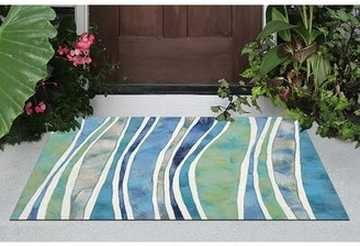 Liora Manné Visions III Aqua Blue/Green/White Rug Rug Size: Rectangle 2' x 3'