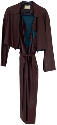 By Malene Birger Burgundy Leather Trench coats