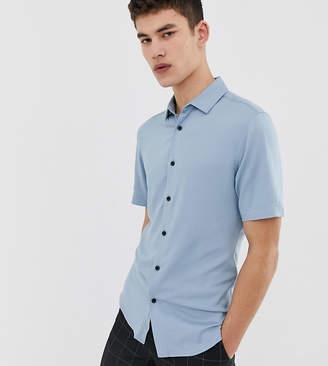 Asos Design DESIGN Tall muscle viscose shirt is dusty blue