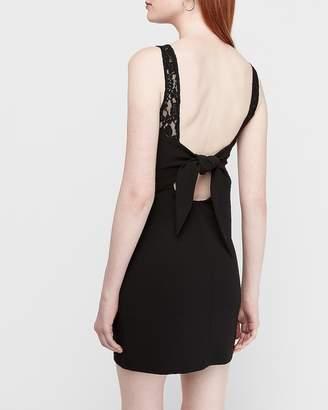 Express Lace Piece Tie Back Sheath Dress