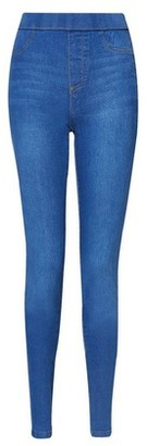 Dorothy Perkins Womens Tall Midwash Blue 'Eden' Super Soft Jeggings, Blue