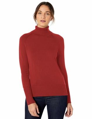 Lark & Ro Amazon Brand Women's Rib Detail Turtleneck Sweater