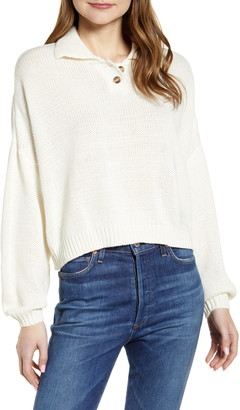 RD Style Button Collar Sweater