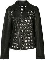RtA circular cut-out biker jacket