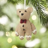 Crate & Barrel Gingerbear Felt Christmas Ornament