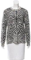 Michael Kors Zebra Printed Knit Top