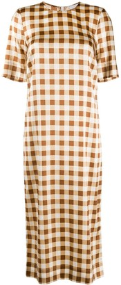 Ganni Gingham Check Shift Dress