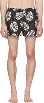 Dolce & Gabbana Black Leaf Swim Shorts