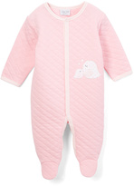 Bon Bebe Pink Birdies & Heart Appliqué Quilted Footie