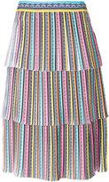 Mary Katrantzou rainbow tiered midi skirt - women - Silk/Polyester - 8