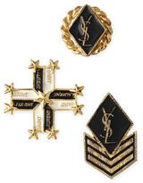 Saint Laurent Military-Style Pins, Set of Three