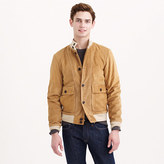 J.Crew Buttoned suede bomber jacket