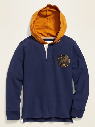 Old Navy Hooded Rugby for Boys