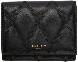 Givenchy Black Diamond Quilted Trifold Wallet
