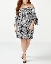 Penningtons ONLINE ONLY Off Shoulder Printed Dress