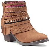 Mudd Women's Strappy Fringe Ankle Boots